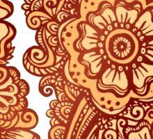 Ethnic henna pattern in Indian style Sticker