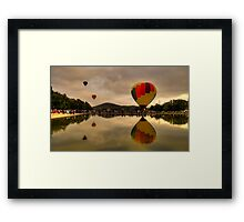 UP 2 ! - Balloonfest,Canberra Australia - The HDR Experience Framed Print