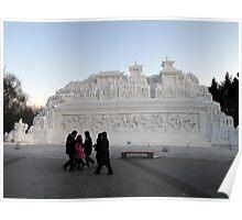Snow Sculpture, Harbin, China Poster