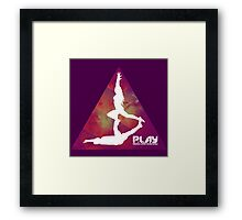 PLAY - Purple Trigon Framed Print