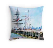Stad Amsterdam - One And All - Enterprize Throw Pillow