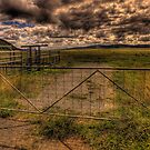 Don't fence Me In (Panoramic) - On The Road To Canberra - The HDR Experience by Philip Johnson