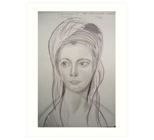 Sketch of Dutchess of Cumberland Art Print