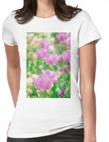 tulips in a garden Womens Fitted T-Shirt