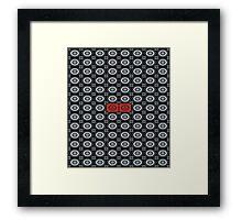 Black Circles Pattern Framed Print