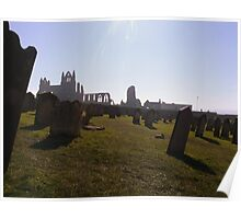 Whitby Abbey, from St Mary's Churchyard Poster