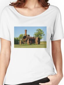 Antique Tractor - A Rusty Relic on a Farm Women's Relaxed Fit T-Shirt