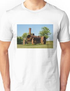 Antique Tractor - A Rusty Relic on a Farm Unisex T-Shirt