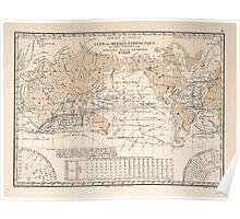 Atlas zu Alex V Humbolt's Cosmos 1851 0155 Ocean Storm Map Poster