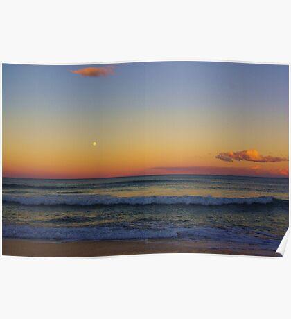 Old Bar Beach Sunset Poster