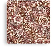 Ethnic henna pattern in Indian style Canvas Print