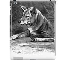 Black and white illustration of the Dingo iPad Case/Skin
