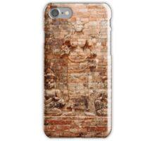 Reliefs at Pasat Kravan - Angkor, Cambodia. iPhone Case/Skin