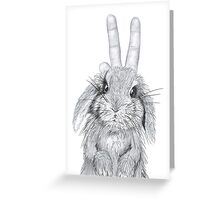 bunny ears! Greeting Card
