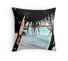 Pandanus Palms, Noosa, Queensland Throw Pillow