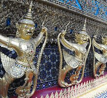 The Temple of the Emerald Buddha- Goldleaf Guardians by AlexisNaomi