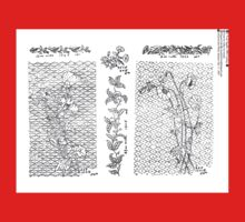 New Sample Book of Our Artistic Perforated Parchment Stamping Patterns Kate Greenaway, John Frederick Ingalls 1886 0253 Baby Tee