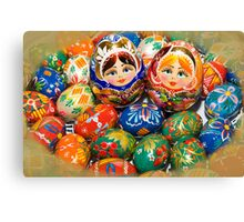 Ukrainian Easter Eggs Canvas Print