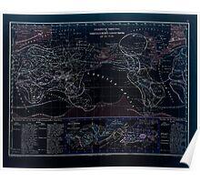Atlas zu Alex V Humbolt's Cosmos 1851 0171 Habitats of the World Inverted Poster