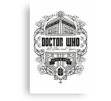 Doctor Who All the Time and Space Vintage Canvas Print
