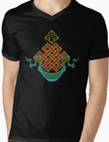 Buddhist Endless Knot Mens V-Neck T-Shirt