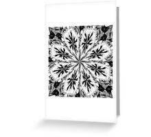 Frosty Snow Flake Kaleidoscope Greeting Card