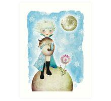 Wintry Little Prince Art Print