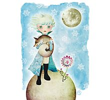 Wintry Little Prince Photographic Print