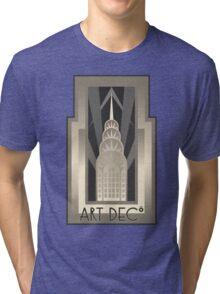 Art Deco Chrysler Building Tri-blend T-Shirt