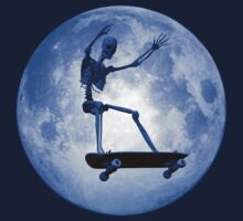 Skateboarding skeleton by Carol and Mike Werner