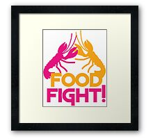Food Fight with lobsters Framed Print