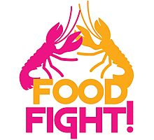 Food Fight with lobsters Photographic Print