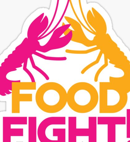 Food Fight with lobsters Sticker