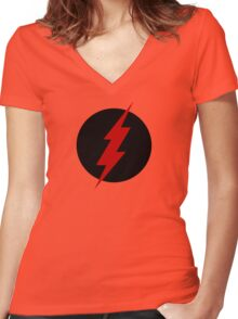 REVERSE FLASH Women's Fitted V-Neck T-Shirt