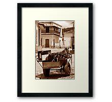 Removals Trinidad style, Cuba Framed Print