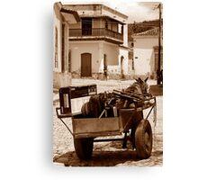 Removals Trinidad style, Cuba Canvas Print