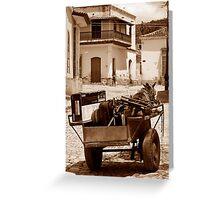 Removals Trinidad style, Cuba Greeting Card