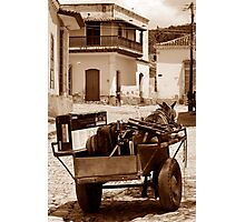 Removals Trinidad style, Cuba Photographic Print