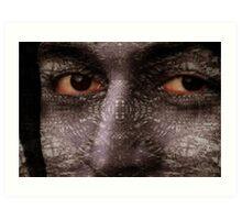Glowing eyes purple haze Art Print