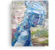 SUMMER BLUES GIRL Canvas Print