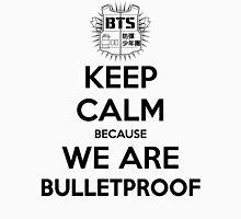 BTS - Keep Calm Because We Are Bulletproof (Black) Unisex T-Shirt