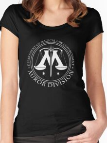 AUROR DIVISION Seal - white - (Harry Potter) Women's Fitted Scoop T-Shirt