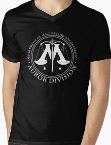 AUROR DIVISION Seal - white - (Harry Potter) Mens V-Neck T-Shirt