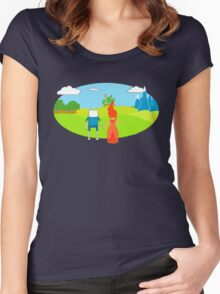 It's dangerous to go along Women's Fitted Scoop T-Shirt