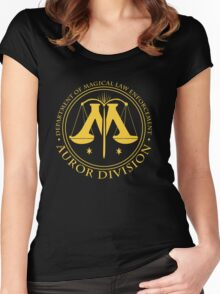 AUROR DIVISION Seal - gold - (Harry Potter) Women's Fitted Scoop T-Shirt