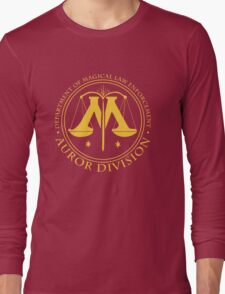 AUROR DIVISION Seal - gold - (Harry Potter) Long Sleeve T-Shirt