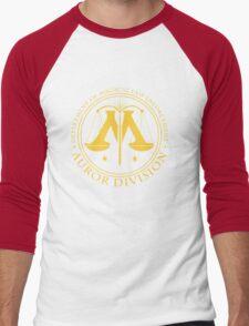 AUROR DIVISION Seal - gold - (Harry Potter) Men's Baseball ¾ T-Shirt