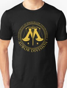 AUROR DIVISION Seal - gold - (Harry Potter) T-Shirt