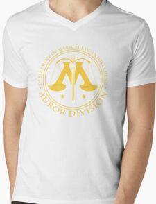 AUROR DIVISION Seal - gold - (Harry Potter) Mens V-Neck T-Shirt