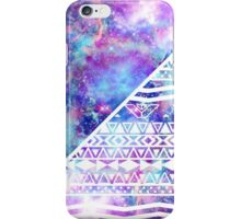 Girly Purple Pink Nebula Space White Tribal Aztec iPhone Case/Skin